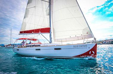 Oceanis 45 in Adriatisches Meer
