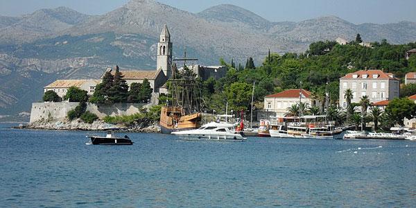Insel Lopud vor Dubrovnik Kroatien