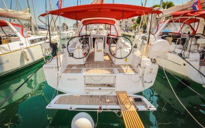 Heck Cockpit von Segelyacht Beneteau Oceanis 35
