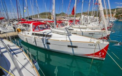 Steuerbordseite von Segelboot Beneteau Oceanis 41