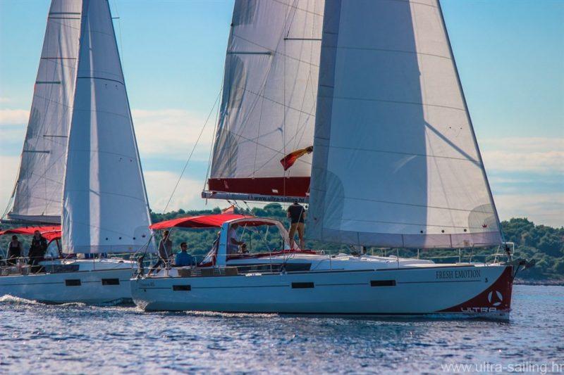 Segelyacht Beneteau Oceanis 45 beim Segeln in Kroatien