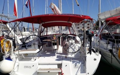 Cockpit von Segelyacht Beneteau Oceanis 41.1 Heckseite