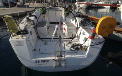 Heck von Segelboot Beneteau First 35