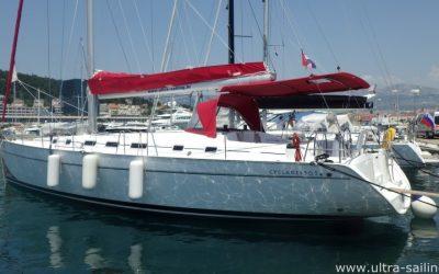 Backbordseite von Segelyacht Beneteau Cyclades 50.5