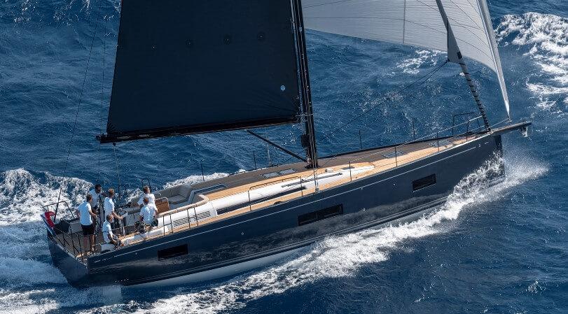 Segelyacht Beneteau First 53 beim Segeln