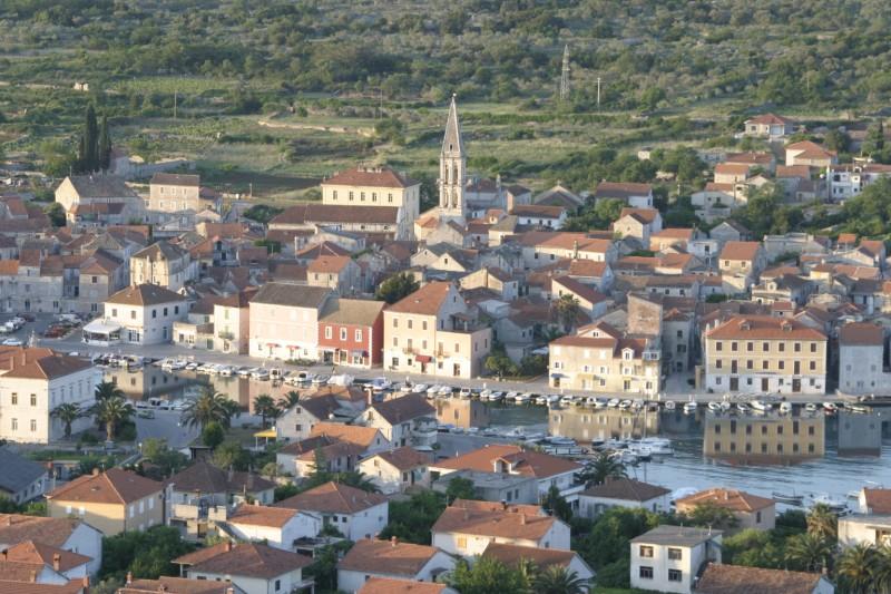 Die Stadt Stari Grad auf der Insel Hvar