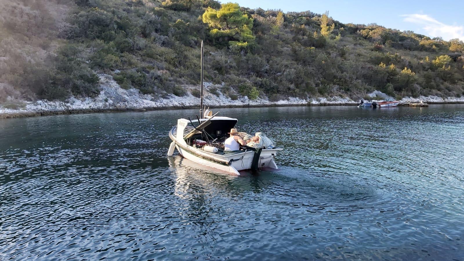 Fischfang auf der Insel Scedro